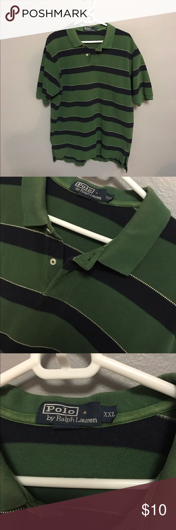 Polo collared shirt casual This is a really nice polo Ralph Lauren collared shirt in a size XXL but fits like an XL. Great price so don't sleep. Great condition Polo by Ralph Lauren Shirts Polos