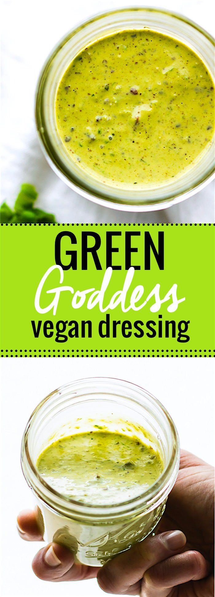 homemade vegan green goddess dressing. This vegan green goddess is Paleo friendly and whole30 if you use coconut aminos !@cottercrunch