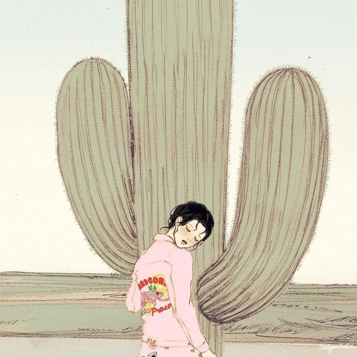Cactus heart. | Illustration by Salgoo