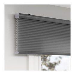 IKEA - HOPPVALS, Plisségordijn, dubbel, 100x210 cm, , Kan helpen bij het verlagen van de verwarmingskosten, omdat de lucht in de honingraatstructuur als isolatielaag werkt.Het koord is weggewerkt in het rolgordijn, waardoor het kinderveiliger is.Het gordijn zorgt dat er minder daglicht binnenkomt en geeft privacy omdat mensen van buiten niet rechtstreeks naar binnen kunnen kijken.Kan aan de wand of aan het plafond bevestigd worden.