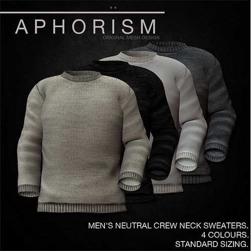 !APHORISM! MENS CREW NECK SWEATERS NEUTRAL | Flickr - Photo Sharing!