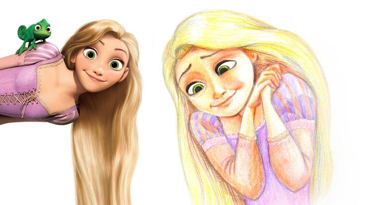 How to draw Rapunzel (Tangled) | Как нарисовать Рапунцель
