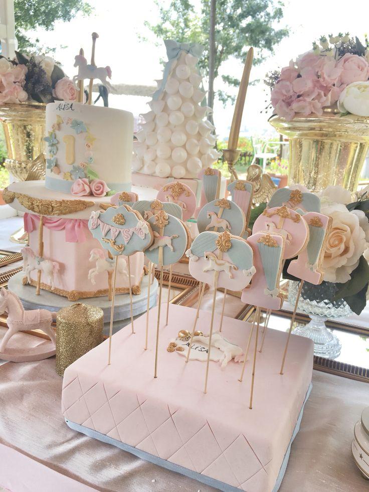 baby girl birthday cake