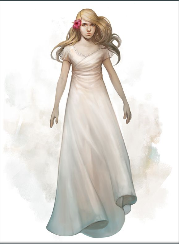 Ethereal girl. Character concept art from the upcoming Artifex Mundi game Nightmares from the Deep: Davy Jones #adventure www.facebook.com/NightmaresFromTheDeep