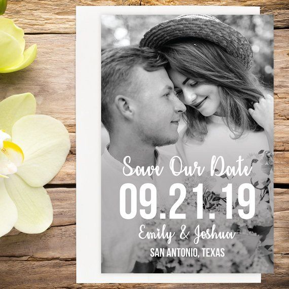 Printable Photo Save The Date Template
