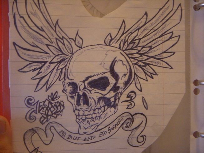 Kind of tattoo idea, done with ballpoint pen