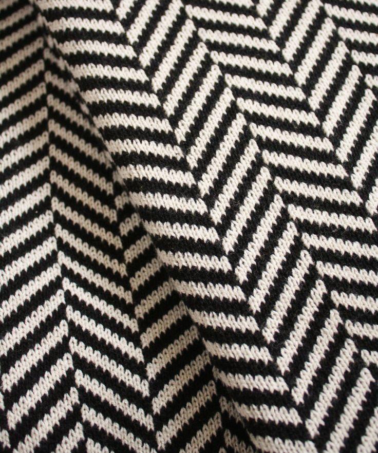 knit herringbone throw blanket black white black white love pinterest herringbone. Black Bedroom Furniture Sets. Home Design Ideas