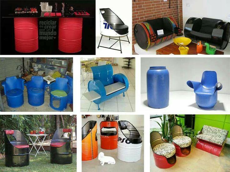 Reutilizar barriles de pl stico o metal buenas ideas - Ideas para decorar con materiales reciclados ...
