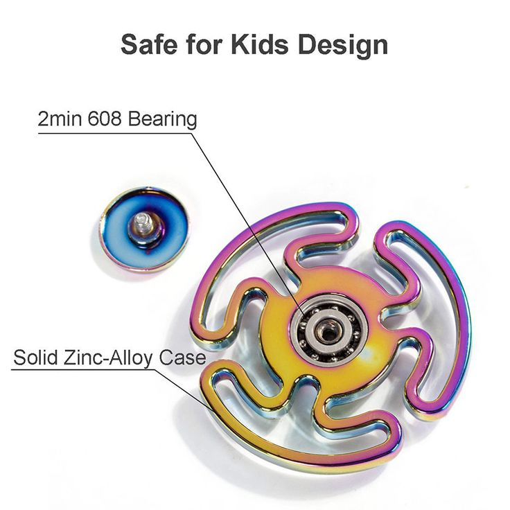 Colorful Maze Anti Stress Tri-Spinner Figet Rainbow Hand Spinner Metal Finger Toys R188 Steel Bearing Educational Funny Toy #Affiliate