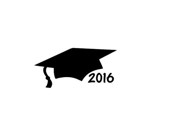 Classe di laurea Cap auto Decal, regalo di laurea 2016, del 2016 vinile adesivo, decorazioni festa di laurea, laurea adesivo, vinile auto adesivo