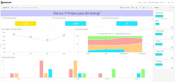 Quality Assurance Analytics Dashboard Example