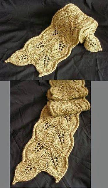 """Crochê Tricô - Gráficos: Cachecol """"Maravilhoso"""" em Tricô"""