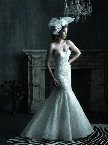 Allure Style C200 Strapless Wedding Dress - Nearly Newlywed Wedding Dress Shop