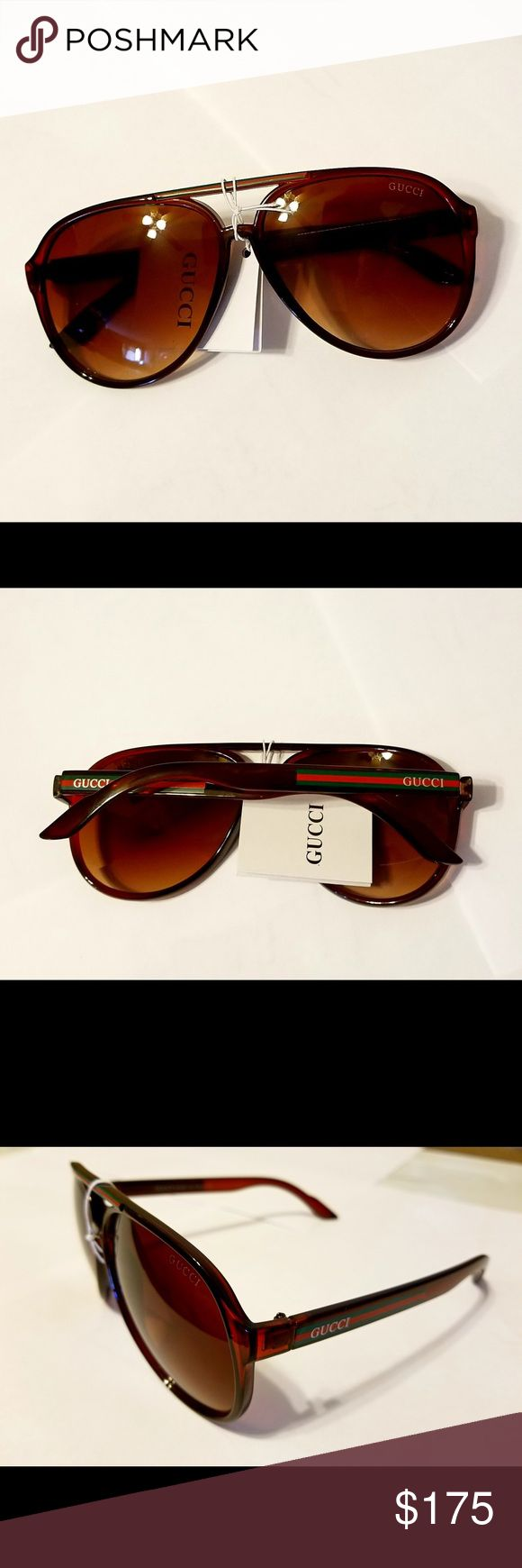 Gucci sunglasses Unisex Unisex Gucci sunglasses Brand New Model GG1622/s made in Italy. Aviator Habana retro,  really cool shades. No accessories are included Only the sunglasses Gucci Accessories Sunglasses