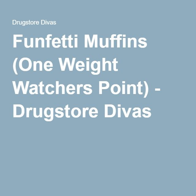 Funfetti Muffins (One Weight Watchers Point) - Drugstore Divas