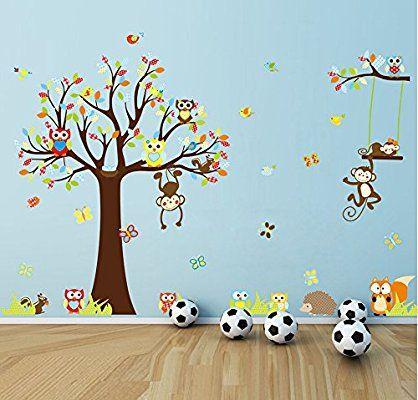 Kinderzimmer wandgestaltung wald  35 besten Kinderzimmer Wände Bilder auf Pinterest | Kinderzimmer ...