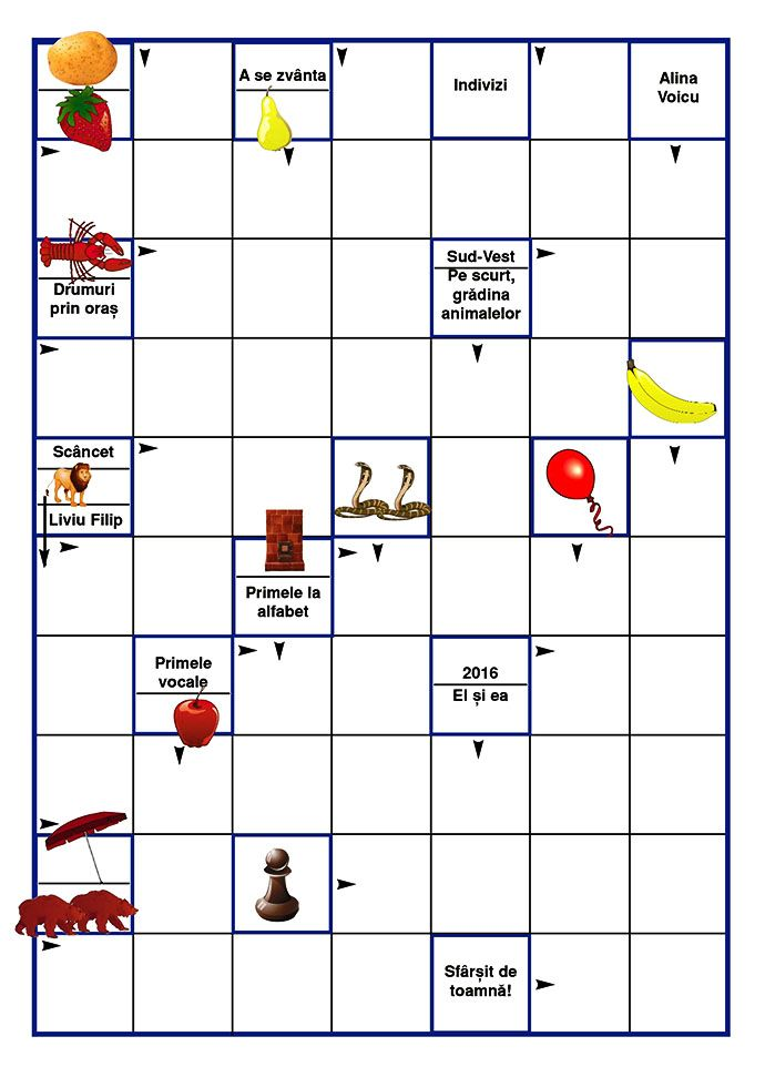 Joc de copii: Integrama ilustrată 9