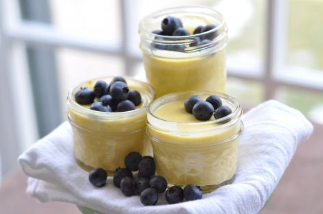 Vanilla Custard with Blueberries | Tea & Company | Pinterest