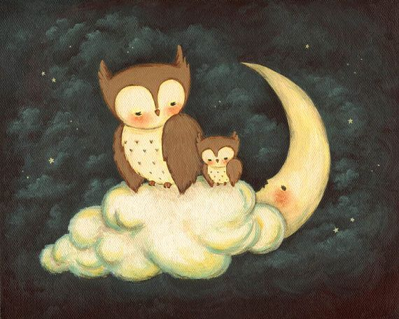 Hey, I found this really awesome Etsy listing at https://www.etsy.com/listing/189799601/goodnight-little-owl-childrens-art