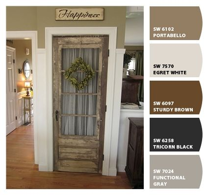 283 best images about paint interior exterior on for Rustic paint colors from sherwin williams