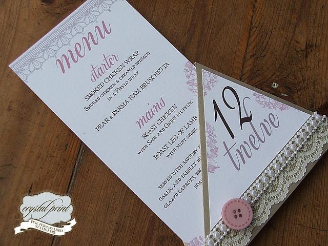 stand menu lace by crystalprint, via Flickr