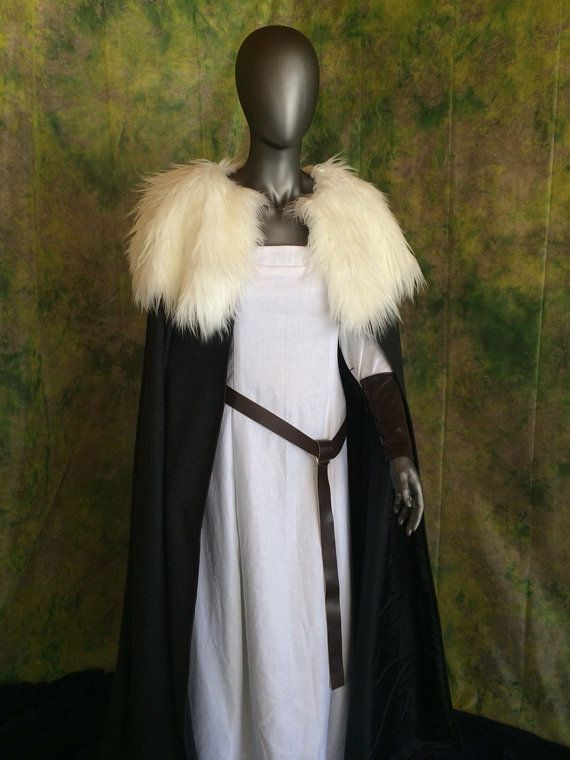 This amazing cloak will be the talking piece of your costume! It can go with many different styles and eras!  Made with a wool blend, and lined