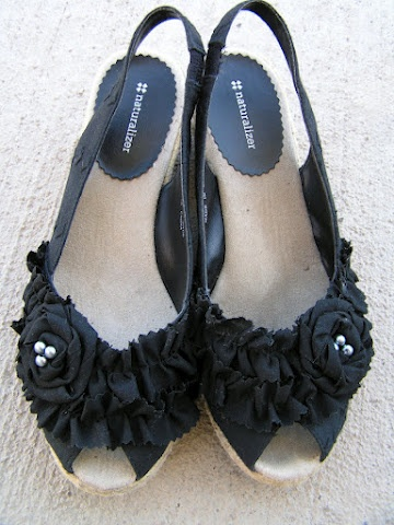 Tea Rose Home: remake, refashion...several pairs of old favorite shoes get a new look