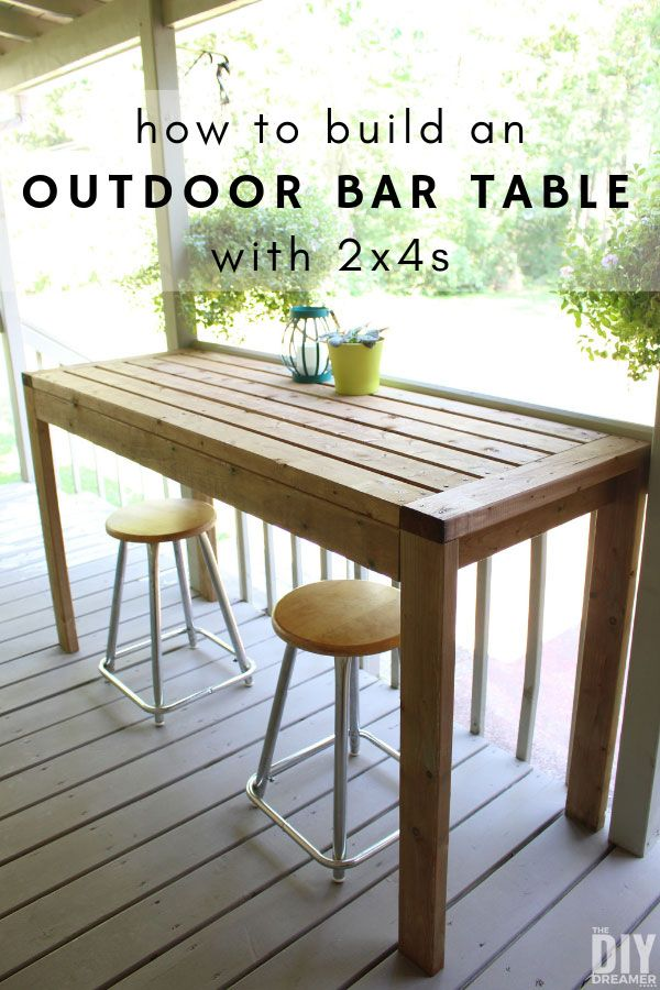 How To Build A 2x4 Outdoor Bar Table In 2020 Outdoor Bar Table Diy Outdoor Bar Bar Table Diy