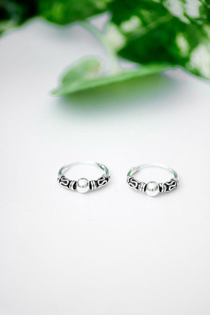 Mr Snorr zilveren Bali hoops Sterling zilver 12 mm