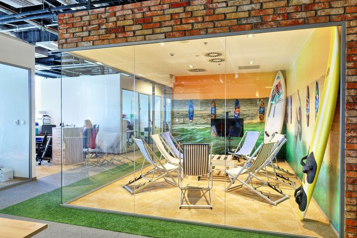 Dream office, conference room, meeting room, hipster conference room, surfing office, pikstudio design