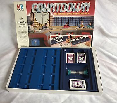 Vintage Countdown Board Game-MB games-1987 complete vgc