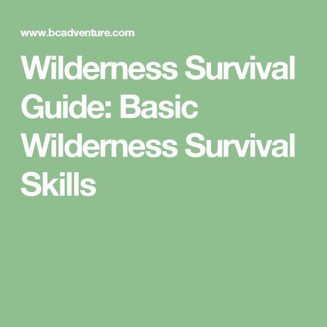 Basic Survival Skills: Best 25+ Wilderness Survival Ideas Only On Pinterest