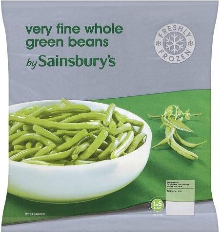 Sainsbury's Whole Green Beans (1Kg)