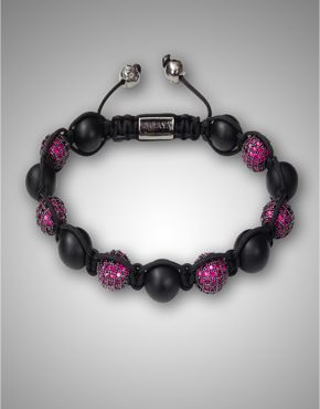 CZ Diamond Matte Onyx Bracelet