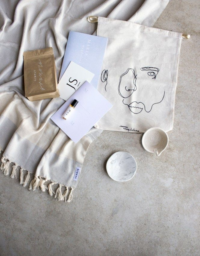 Ink + Foil Workshop gift bags styled and photographed by Matanna Katz