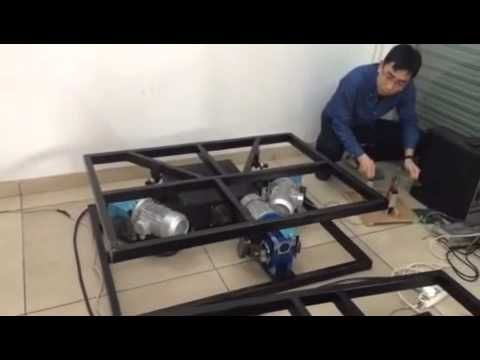 Electric motion platform with three degrees of freedom - YouTube
