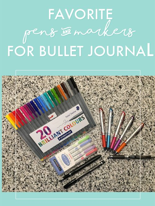 Bullet Journal Pens and Markers