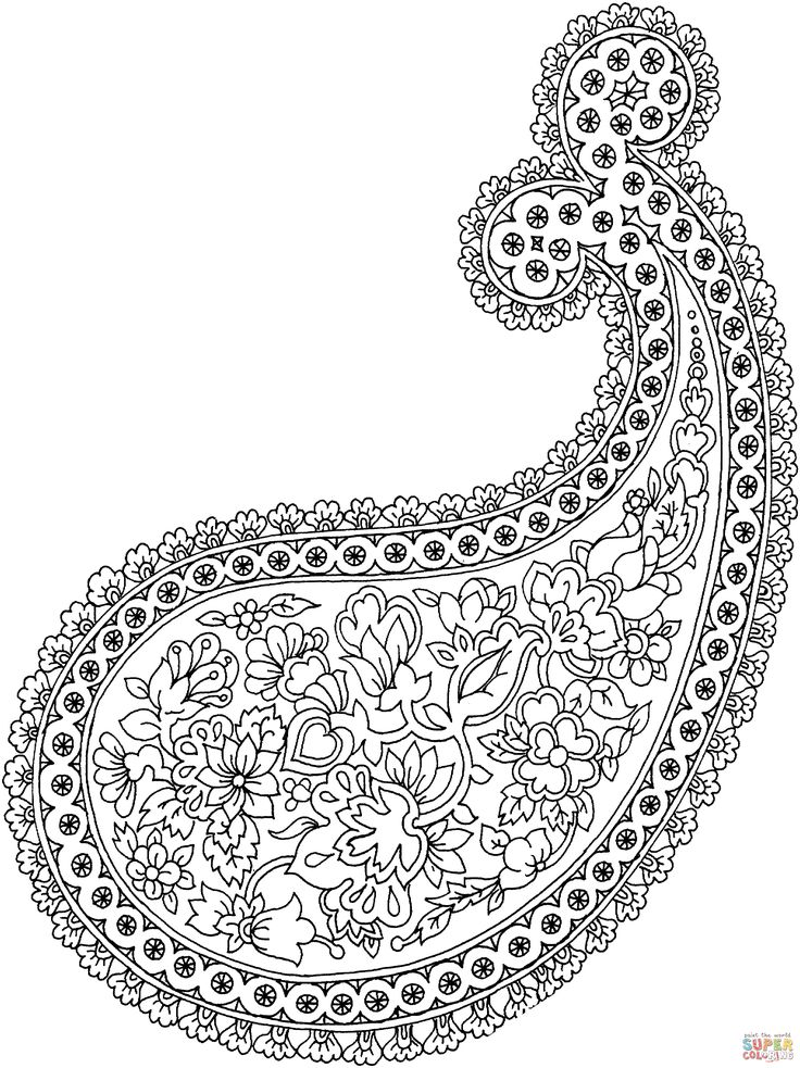 Best 25 Paisley coloring pages