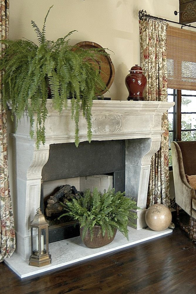 Antique French Fireplace At Home In Santa Monica Living Room With