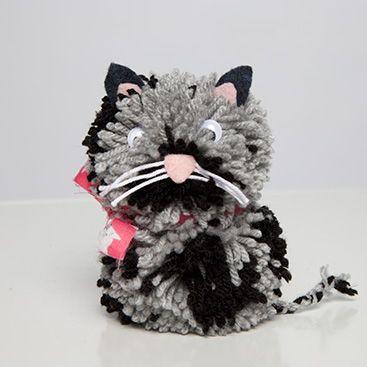 51 best images about cat pom poms on pinterest. Black Bedroom Furniture Sets. Home Design Ideas