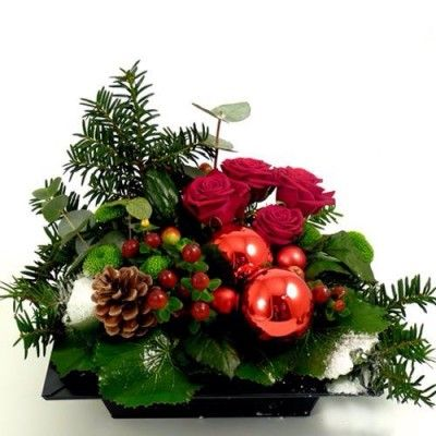 1000 arreglos navide os para mesa pinterest - Como hacer centros navidenos ...