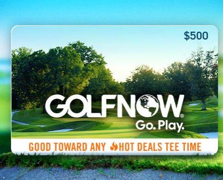 Grand Prize is a $500.00 GolfNow virtual gift card. Sign up for Golf Channel emails for your chance to win a $500 GolfNow gift card now!
