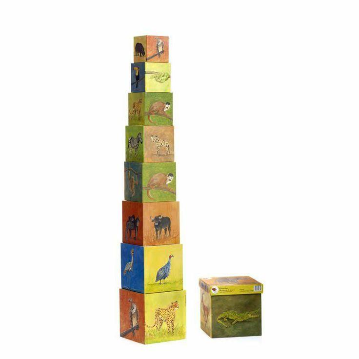Pirámide de cubos.