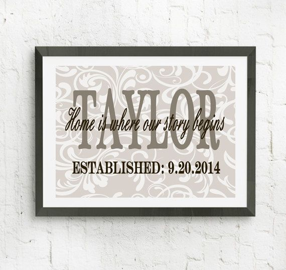 Personalized Wall Art Home Is Where Our Story By Rizzleandrugeetoo