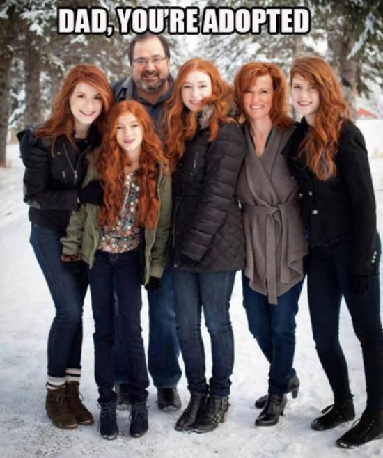 I love this so much because they all look so pretty (even the dad is pretty )
