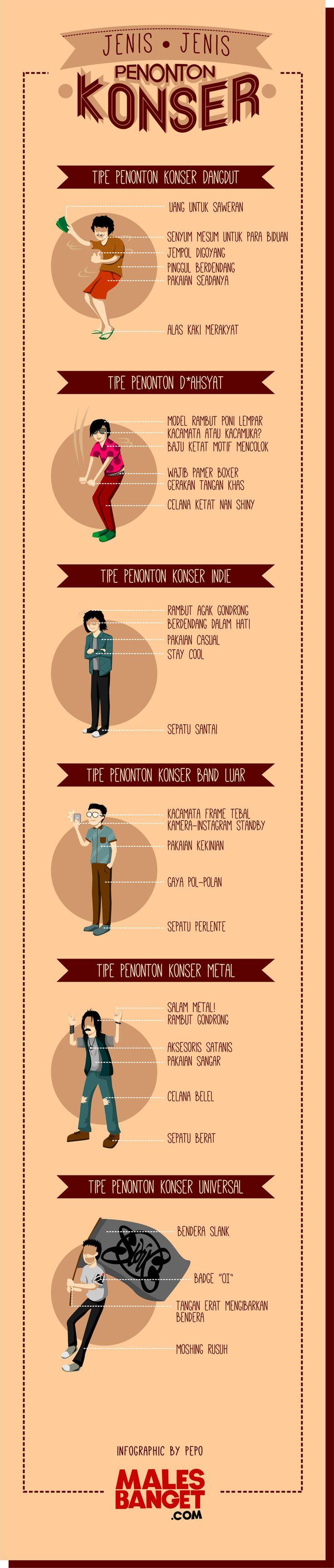 6 Jenis Penonton Konser, Berdasarkan Jenis Konsernya