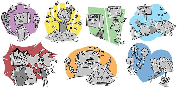 De 7 zonden op social media: IJdelheid, Vraatzucht, Luiheid, Lust, Hebzucht, Woede en Jaloezie