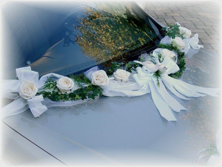 Autoschmuck Autodeko Hochzeit Tischdeko Deko Autogirlande Autodekoration Weiß - Kaufen bei ZauberDeko.de