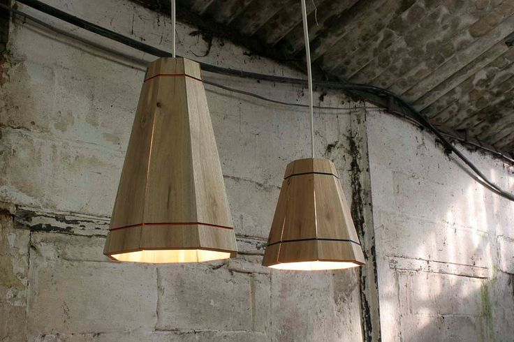 Pendant Lamp Shade Handmade in Recycled Pallet Wood