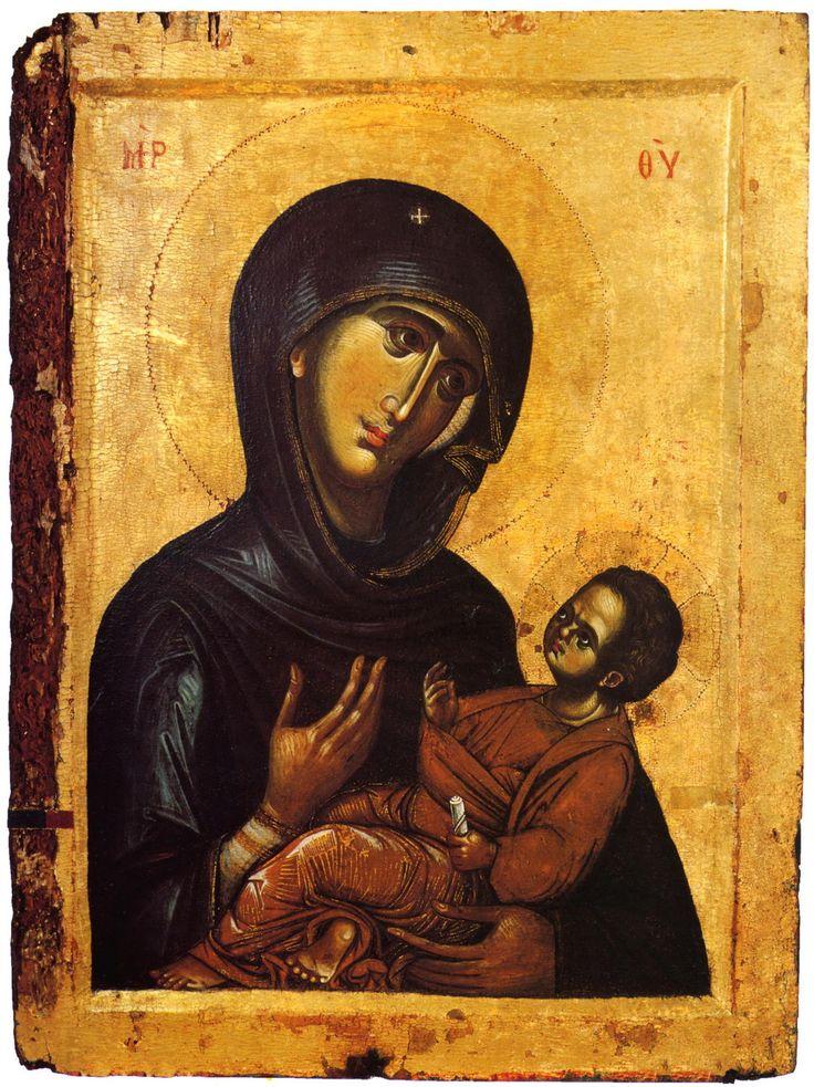 Our Lady Aristokratusa Century: XIII Storage location: Mount Athos monastery of Vatopedi Size: 57.5 x 43 cm